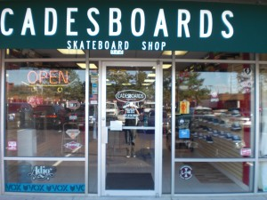Our great skateboard shop.